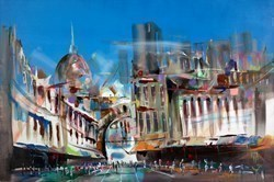 Urban Buzz by Marijus Jusionis -  sized 47x32 inches. Available from Whitewall Galleries